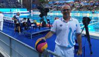Daniel Daners, juez uruguayo de Waterpolo que arbitrará en la final del Mundial. Foto: Enrique Arrillaga