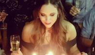 Barbie Vélez, celebrando su cumpleaño