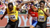 Usain Bolt y su penúltima carrera profesional. Foto: Reuters
