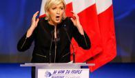 """Le Pen atacó la """"inmigración masiva"""" y el """"fundamentalismo islámico"""". Foto: Reuters"""