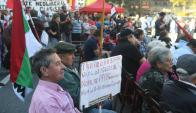 Proclama: una decena de sindicatos pide derogar las AFAP. Foto: F. Flores