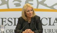 Carolina Cosse en conferencia de prensa. Foto: captura Presidencia