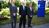 Tomaz Gorisek, Embajador de la Unión Europea Juan Fernández Trigo, Andrea Nicolai.