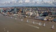 Desde LIverpool, zarparon los veleros de la Regata Clipper. Foto: Clipper Race