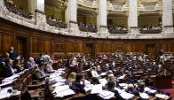 Debate: la oposición cuestionó cifras de reducción de la pobreza. Foto: M. Bonjour