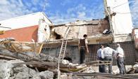 El local de la empresa de seguridad en Ciudad del Este quedó destruido. Foto: AFP