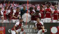 Arsenal campeón de la FA Community Shield, la Supercopa inglesa. Foto: AFP