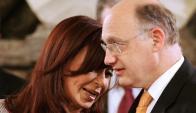 Cristina y su canciller, Héctor Timerman, ambos en la mira judicial. Foto: AFP