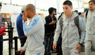Federico Ricca en el aeropuerto de Carrasco. Foto: Marcelo Bonjour