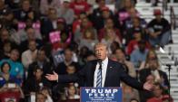 Donald Trump en un acto de campaña . Foto: AFP