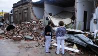 Dolores: el tornado de abril destruyó parte de la ciudad. Foto: Fernando Ponzetto