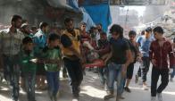 Siria: en Alepo hay 250.000 personas en emergencia humanitaria. Foto: AFP