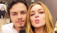 Lindsay Lohan y Egor Tarabasov. Foto: @lindsaylohan