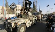 Comandos del Estado Islámico en Siria. Foto: AFP.