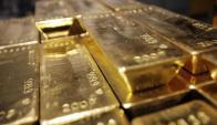 Lingotes de oro. Foto: Archivo El País