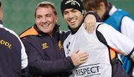 Brendan Rodgers y Luis Suárez, juntos en Liverpool.