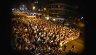 Marcha del silencio 20 de junio. Foto: Gerardo Pérez