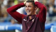 El llanto de Cristiano Ronaldo con el gol de Éder. Foto: Reuters