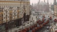 Pavimentación en Rusia. Foto: captura de pantalla