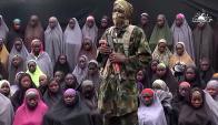 Boko Haram aparentemente muestra a niñas nigerianas desaparecidas. Foto: AFP