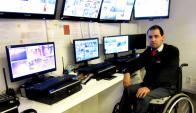 Securitas. Cuenta con 10 trabajadores con discapacidad motriz, tanto en clientes como en su sede central. (Foto: Gentileza Securitas)