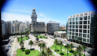 Vista de la Plaza Independencia. Foto: Nicolás Pereyra.