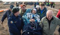 El ruso Anatoli Ivanishin, otro de los astronautas. Foto: Twitter @Space_Station