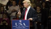 """Trump. """"Es interesante que EE.UU. venda armas a Taiwán y yo no pueda recibir una llamada"""", ironizó. Foto: AFP."""