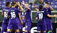 Cristóforo en el festejo de la Fiorentina. Foto: AFP.