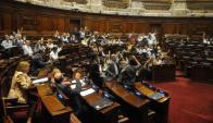 El proyecto de ley del gobierno fue votado solo por el FA. Foto: Francisco Flores