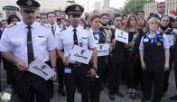 Los trabajadores de Egyptair piden explicaciones. Foto: EFE