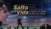 """""""Salto a la Vida"""", el partido benéfico de Edinson Cavani en Salto. Foto: captura video"""