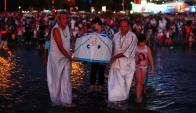 Celebración de Imenajá en la playa Ramírez. Foto: Fernando Ponzetto