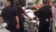 Dos oficiales de policía resultaron heridos en el tiroteo. Foto: Reuters