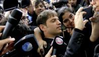 El exministro Axel Kicillof declaró ante la Justicia. Foto: AFP