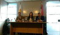 Roballo, Alonso y Gallo en conferencia de prensa. Foto: Presidencia de la República