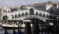 Protestas en Venecia. Foto: AFP.