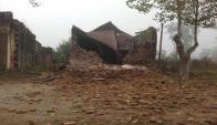 La Iglesia de Santa Clara se desplomó ayer por la mañana. Foto: M. Morales