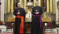 Sturla y Pollesel en el Vía Crucis ecuménico. Foto: EFE