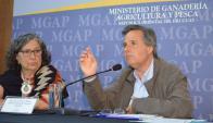 Jerarcas: Gabard, Dirección de la Granja y Montes, Director de Servicios Agrícolas. Foto: MGAP