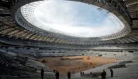 El Estadio Luzhniki en construcción para el Mundial de Rusia 2018. Foto: Reuters