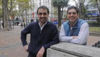 Emprendedores. Valle y Levin tuvieron el visto bueno del BCU el miércoles 4. (Foto: Ariel Colmegna)