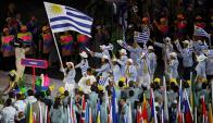 Dolores Moreira, la abanderada de Uruguay en la ceremonia de inauguración de los Juegos Olímpicos en el Maracaná. Foto: Reuters