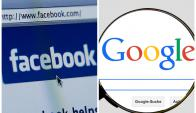 Google y Facebook, dos competidores que se unen. Fotos: Pixabay