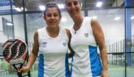 Mariana Nuñez y Claudia Fernandez, pareja de paddle de Uruguay.