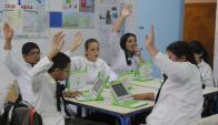 Desde 2007 se han entregado 700.000 computadoras a escolares. Foto: A. Colmegna