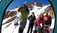 En la base, Federico Sanguinetti, Gerardo Cardozo, Juan Ulloa y Roberto Ramallo.