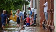 Evacuados por  inundaciones. Foto: Daniel Rojas