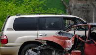La camioneta recibió al menos 16 impactos en la Interbalnearia. Foto: F. Ponzetto