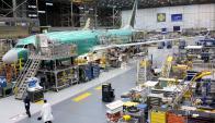 Aviones comerciales. Esta división genera dos terceras partes de los ingresos anuales. Foto: Reuters.